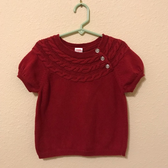 f09e0b820dbfe Gymboree Shirts & Tops | Short Sleeve Cable Knit Sweater Girls 4 ...